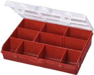 Stack-On SBR-10 10 Compartment Storage Organizer Box with Removable Dividers, Red $2.48 add on item @ amazon