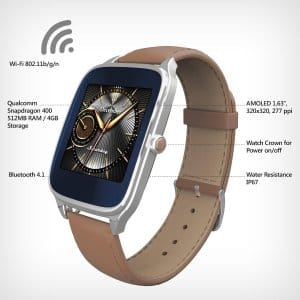ASUS ZenWatch 2 WI501Q-SR-BW-Q 1.63-inch AMOLED Smart Watch with Quick Charge - BROWN $119.99 fs @ amazon