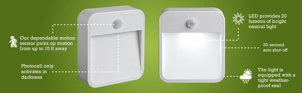 Mr Beams MB726 Stick Anywhere Battery-Powered Wireless Motion Sensor LED Night Light, White, Set of 6 $26.14 sss eligible @ amazon / LDs!