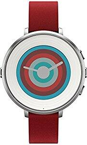 Pebble Technology Corp Smartwatch for iPhone/Android Smartphone - Silver/red $109.99 fs @ amazon