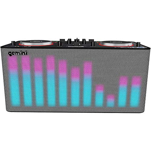 Gemini MIX2GO PRO Portable DJ Mixer with Built-in Speakers and LED Light Show $199.99 fs @ gc