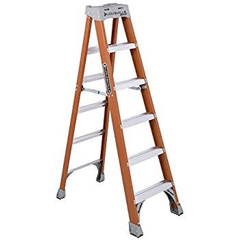 Louisville Ladder ... 300-Pound Duty Rating Fiberglass Ladder, 6-Feet  $69 fs @ amazon