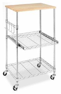 Whitmor Supreme Microwave Cart, Wood & Chrome $31 fs @ amazon