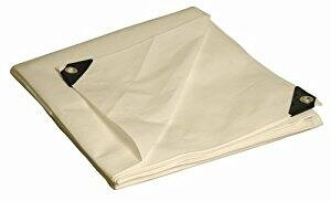 16' x 20' Dry Top Heavy Duty White Full Size 10-mil Poly Tarp $18.50 ac / sss eligible @ amazon / 10x20 $11