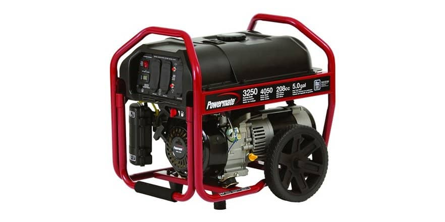 Powermate PM0123250, 3250 Running Watts/4050 Starting Watts, Gas Powered Portable Generator $149 + $5 s/h @ woot / + save 10% if you pay via AMAZON PAY