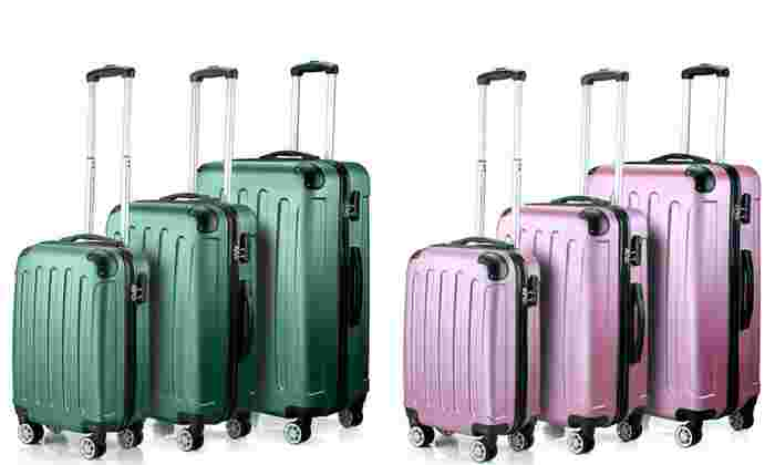 Timmari Hardside Spinner Luggage Set (3-Piece) $104.99 fs @ groupon