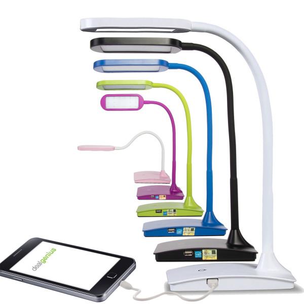 Dimmable LED Desk Lamp – USB Charging Port, Adjustable Neck $12.97 fs @ dg
