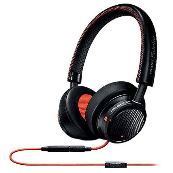 Philips M1MKIIBO/27 Fidelio Premium On-Ear Headphones w/ in-line Control and mic - Black/Orange $39.99 fs @ nf