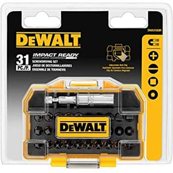 DEWALT DWAX100IR IMPACT READY Screwdriving Tough Case Set, Extra Small, 31-Piece $4.99 add on item @ amazon