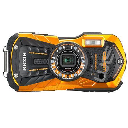 Ricoh WG-30W Digital Camera, Waterproof to 39', Shockproof, 16MP Backlit CMOS ... Bk or Og $180 or Ricoh Theta V 360 Degree Spherical Panorama Camera $400 (S 360 $237) fs @ adorama