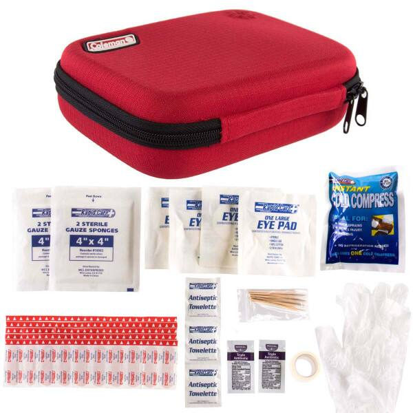 78pc Coleman First Aid Kit Emergency Pack In Zip Travel Case $6.99 fs @ dg