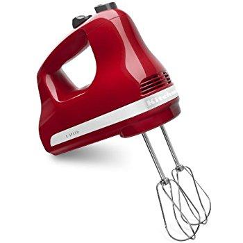 KitchenAid 5-Speed Ultra Power Hand Mixer, Empire Red $29.99 fs @ amazon $30