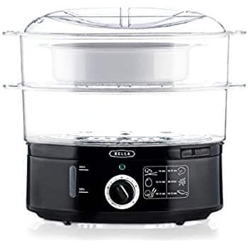 BELLA 7.4 Quart Healthy Food Steamer, Dual Basket $18 sss eligible @ amazon  / OOS but orderable !