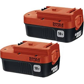 Black & Decker HPB18-OPE2 18V 1.5Ah NiCd Battery for Outdoor Power Tools, 2-Pack $30 fs @ amazon