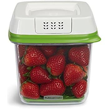 Rubbermaid FreshWorks Produce Saver Food Storage Container, Medium, 6.3 Cup, Green $5.66 add on item @ amazon
