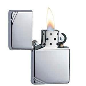 Zippo Vintage Lighters / Brushed Chrome Slashes ONLY $8.39 sss eligible @ amazon / OOS but orderable !
