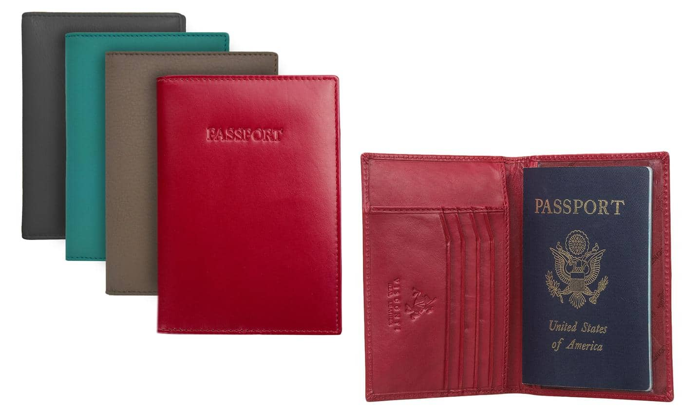 Visconti RFID Identity Theft Protection Leather Passport Wallet $9.99 ac / fs on orders over $35 @ groupon