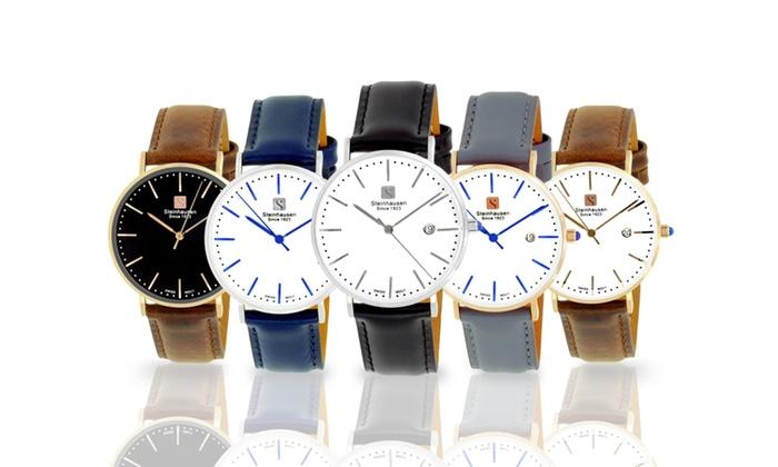 Steinhausen Women's Burgdorf Swiss Quartz Watch with Leather Band $59.99 ac / fs @ groupon