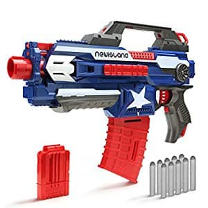 Blaster Gun for N-Strike,Newisland Foam Dart Gun with 10pcs Elite Bullets and Double Clips for Outdoor Series Elite War $15.95 ac / fs @ amazon