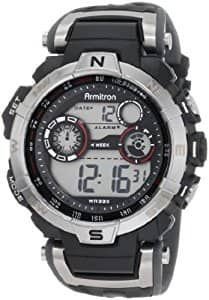 Armitron Sport Men's 44mm Silvertone Black Chronograph Digital Watch $11 sss eligible @ amazon