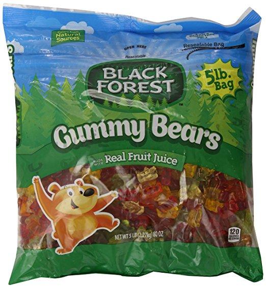 Black Forest Gummy Bears Candy, 80 Ounce Bulk Candy Bag $9.74 ac / fs w/S&S @15% on 5 or more S&S items / or 6# $8.78 add on item @ amazon