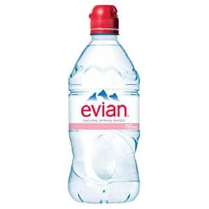 748cd26ab4 evian Natural Spring Water, One Case of 12 Individual 750 ml (25.4 oz.