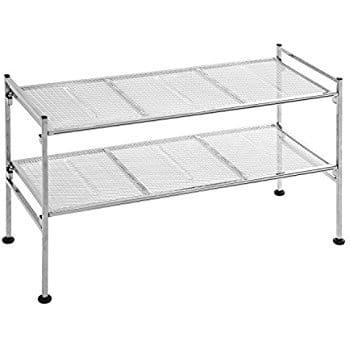 Seville Classics 2-Tier Iron Mesh Utility Shoe Rack, Chrome $14.82 sss eligible @ amazon