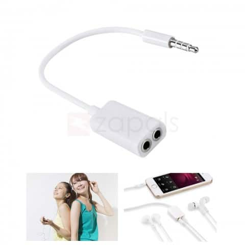 3.5mm Male to 3.5mm Female Headphone Audio Splitter Cable - 18cm $0.30 ac / shipped @ zapals