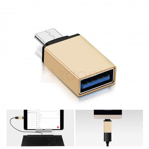 USB Type-C to Female USB 3.0 Type-A OTG Adapter $0.40 ac / shipped @ zapals