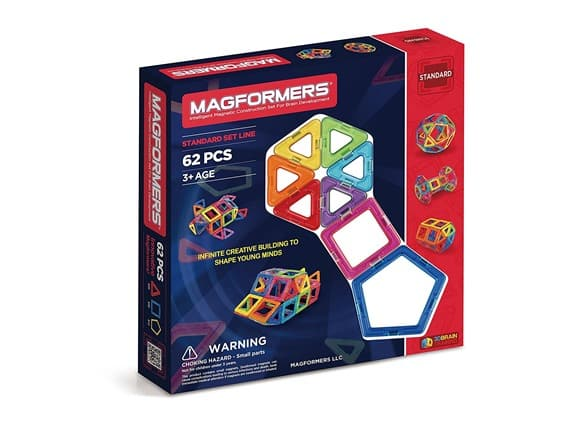 Magformers 63070 62-Piece Magnetic Construction Set $39.99 @ woot