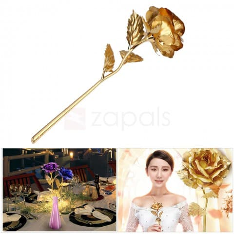 Foil Artificial Rose Flower for Valentine Day/Anniversary/Birthday - Random Color $0.50 ac / shipped @ zapals