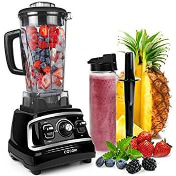 COSORI 1500W Blender for Shakes and Smoothies, Professional Kitchen Smoothie Blender Maker with 64oz BPA-Free Pitcher and 27oz Bottle,Commercial ... $99.99 fs @ amazon
