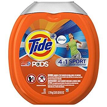 Tide PODS Plus Febreze Sport Odor Defense 4 in 1 HE Turbo Laundry Detergent Pacs, Active Fresh Scent, 61 ct. $10.15 ac / fs w/s&s @15% @ amazon