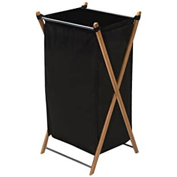 Household Essentials Collapsible Bamboo X-Frame Laundry Hamper | Bamboo Frame with Black Canvas Bag $12.99 sss eligible @ amazon