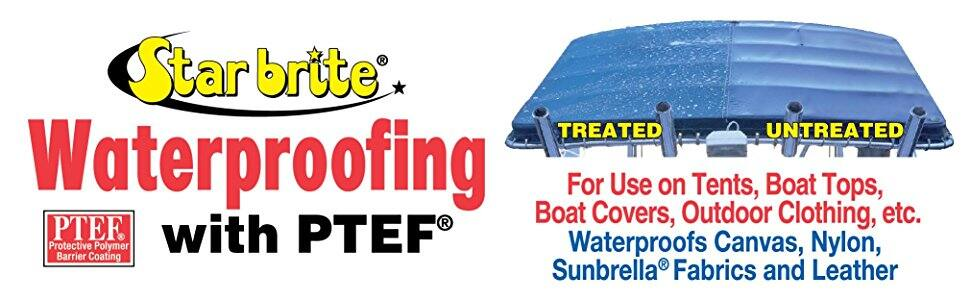 Star brite Waterproofing With PTEF / 1 gallon $32.25 fs w/s&s @5% on 5 or more s&s items @ amazon