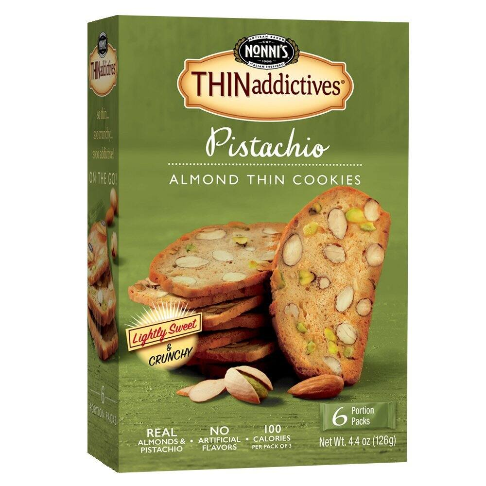 Nonni's Thinaddictives, Pistachio Almond, 4.4 Ounce $1.76 ac / fs w/s&s @15% on 5 or more s&s items @ amazon
