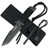 Survivor Outdoor HK-1036 Series Fixed Blade Outdoor Knife, Black Straight Edge Blade, Black Rubber Handle $4.21 add on item @ amazon / OOS but orderable