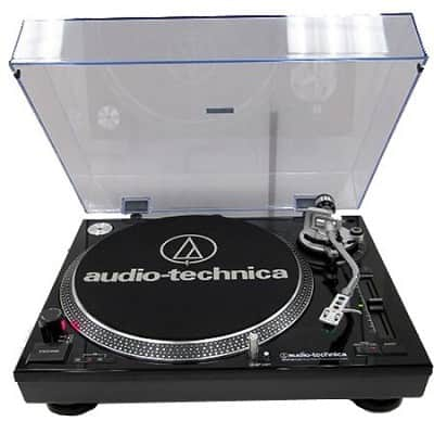 Audio-Technica AT-LP120-USB Direct Drive Professional Stereo Black Turntable w/ USB LP & Analog 294 ac / fs @ bd