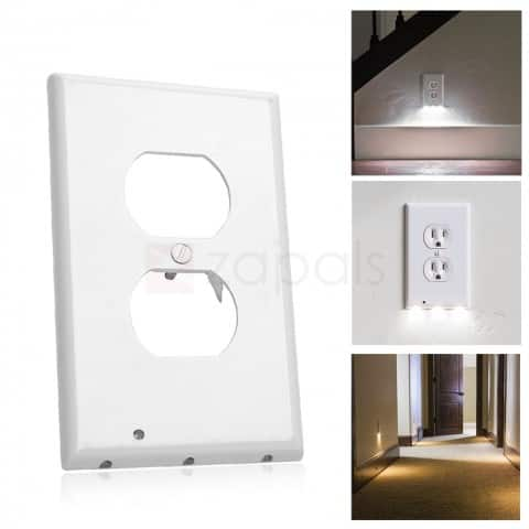 3-LED Night Light Outlet Cover Wall Plate - The USA Version $1.60 ac / shipped @ zapals
