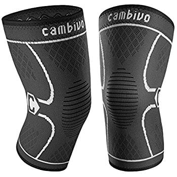 Cambivo 2 Pack Knee Brace, Knee Compression Sleeve Support for Running, Arthritis ... (FDA Approved) $7 ac / sss eligible @ amazon