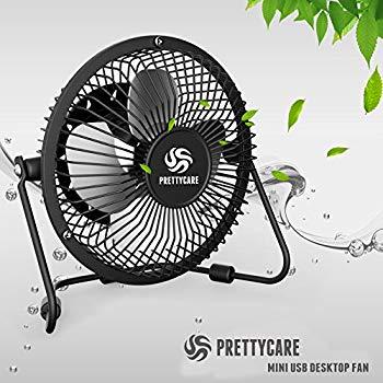 PrettyCare USB Desk Fan ... Personal Mini Fan $7.77 ac / sss eligible @ amazon