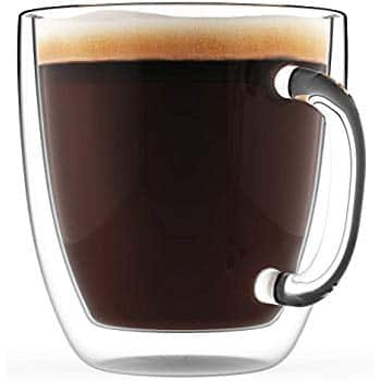 Godinger Large Coffee Mug Glass Double Wall Insulated - 16oz $8.44 or Heart Shaped $11.67 and more ac / sss eligible @ amazon