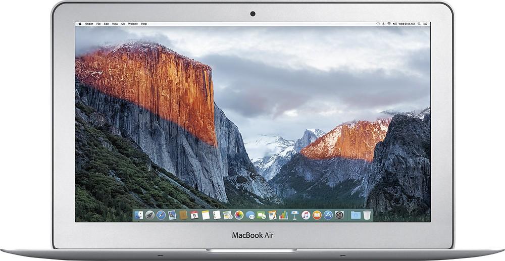 "Apple - MacBook Air® (Latest Model) - 11.6"" Display - Intel Core i5 - 4GB Memory - 128GB Flash Storage - Silver $749"