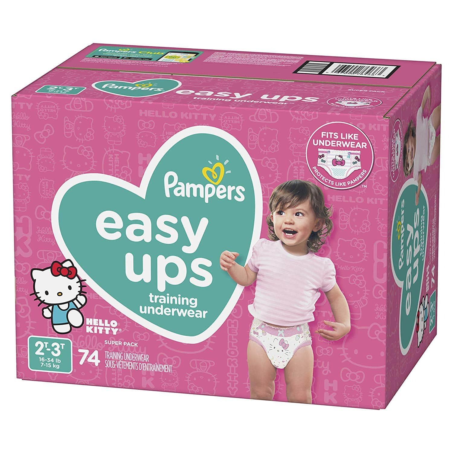 Pampers Easy Ups Pull On Disposable Potty Training Underwear