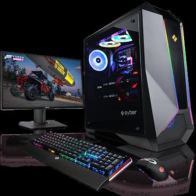 9dee5f92802 Syber L Series ATX Full-Tower Desktop Gaming Computer (Ryzen 7 1700X, 16GB  RAM, 500GB SSD, RX 580 8GB, Killer AC Wi-Fi) -- $990 @ CyberPowerPC