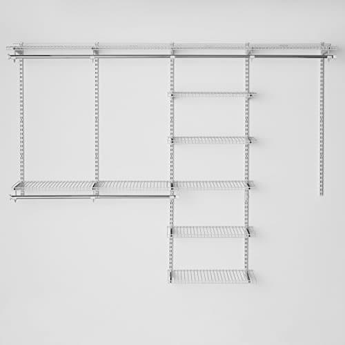 Rubbermaid Configurations 4 To 8 Foot Deluxe Custom Closet Organizer System  Kit,