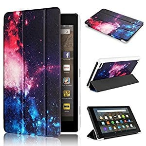 Swees Slim Folio Protective Leather Smart Case Cover with Stand for Amazon Fire 7 Tablet @ Amazon $4.89