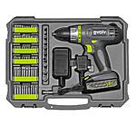 Craftsman Evolv 18V Drill & 107-Piece Toolkit $40
