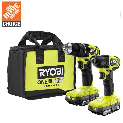 Ryobi HP Drill Driver Impact Kit with 2 Batteries $139.00