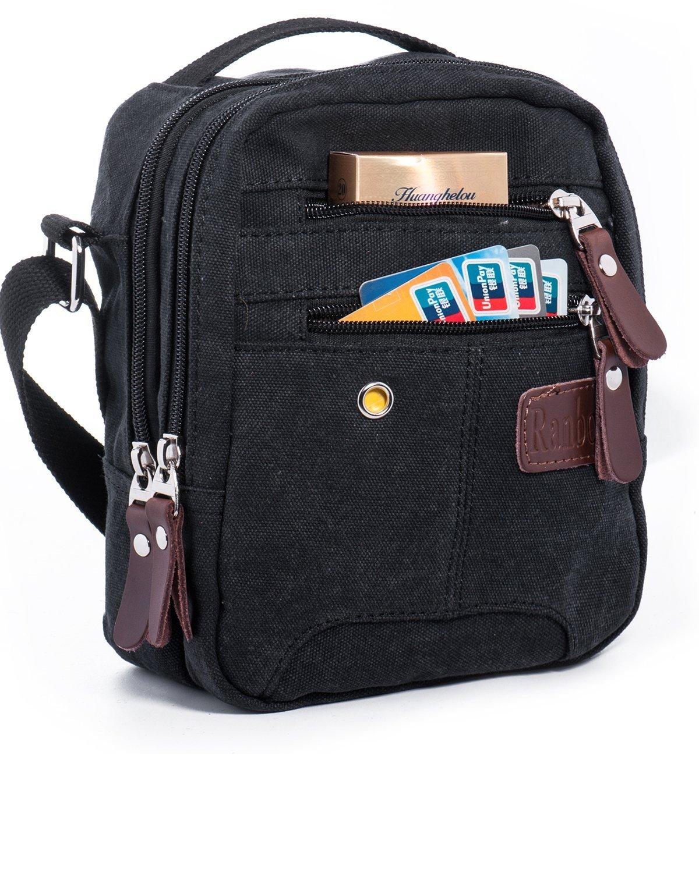 Men's Canvas Messenger Crossbody Side Bag $5.09 + Free Shipping